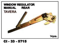 Window Regulator Manual Rear Tavera  L/R