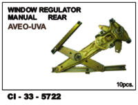 Window Regulator Manual Rear  Aveo-Uva  L/R