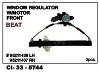 Window Regulator W/Motor Front Beat L/R