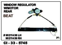 Window Regulator W/Motor Rear Beat  L/R