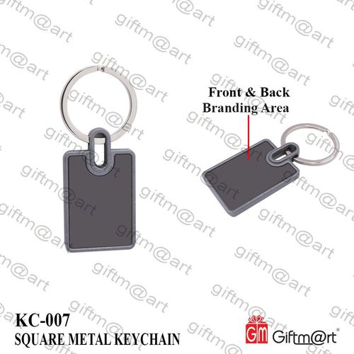 Square Metal Key Chain