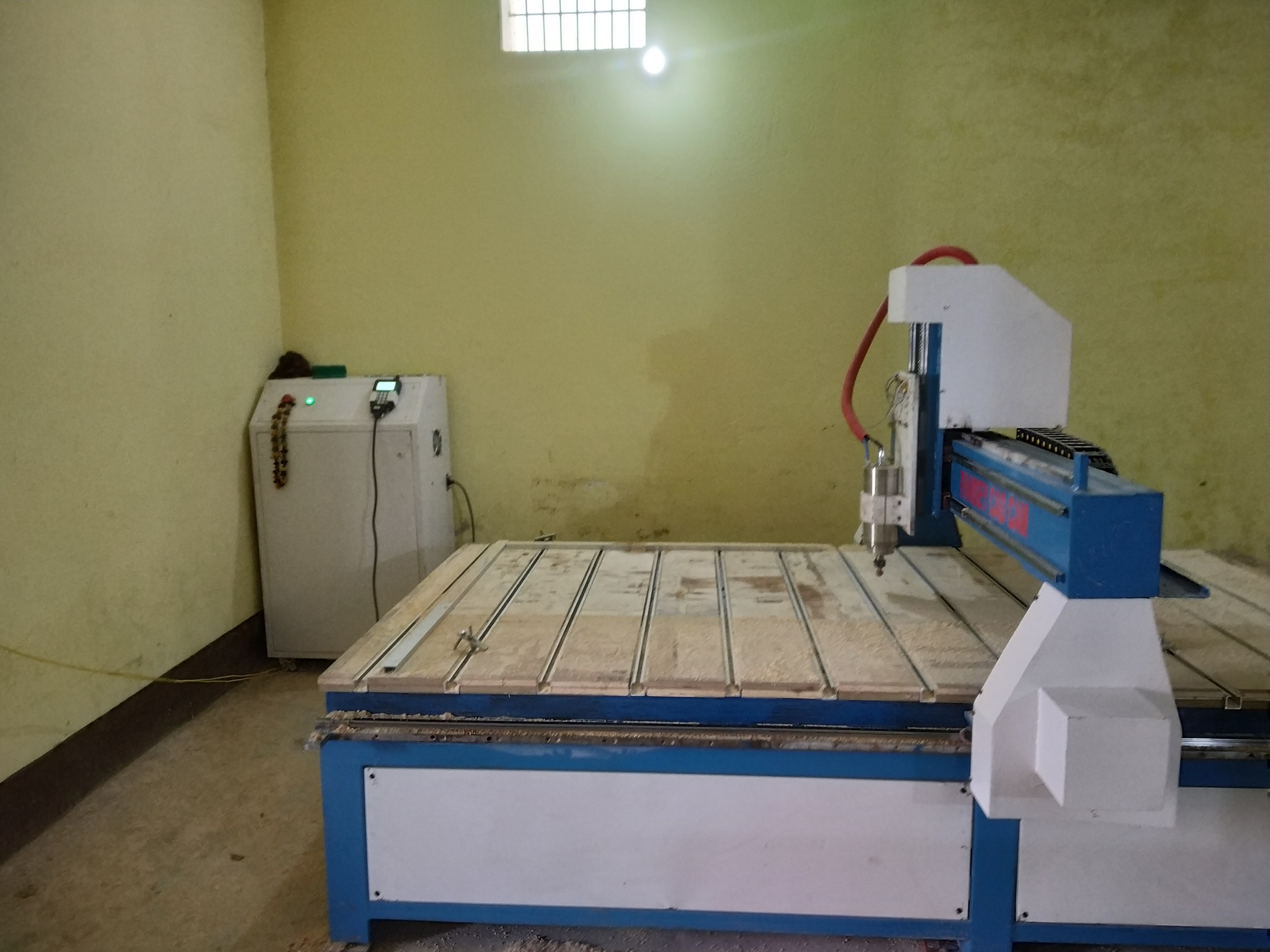wood,mdf, wpc, corian ,marble, acrylics And all types of non metals 2D & 3D working machine