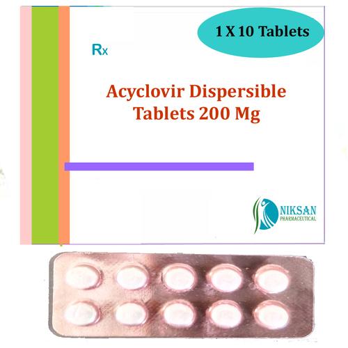 Acyclovir Dispersible Tablets Certifications: Fda Who Gmp