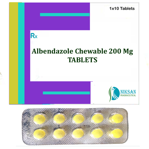Albendazole Chewable 200 Mg Tablets