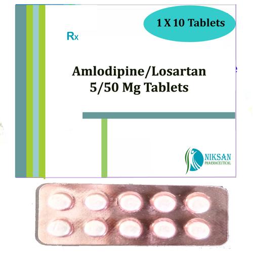 Amlodipine 5 Mg Losartan 50 Mg Tablets