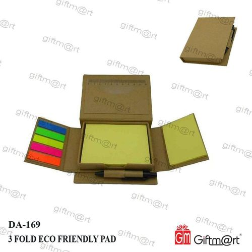 Folding Stick note pad with pen