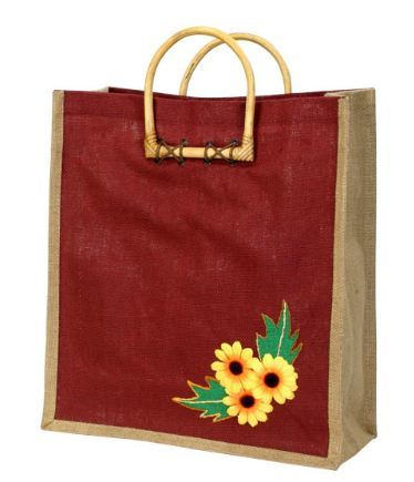 Jute Embroidery Bag