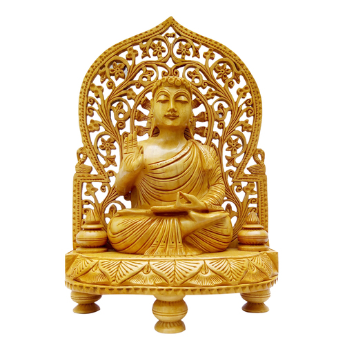 Wooden Buddha Back Jali Stetu Idol