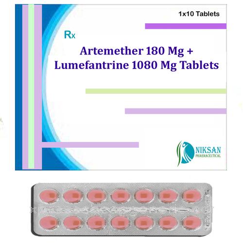 Artemether 180 Mg Lumefantrine 1080 Mg Tablets