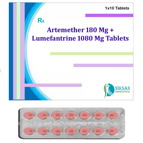 Artemether 180 Mg Lumefantrine 1080 Mg Tablets