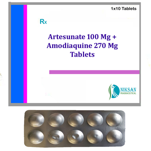 Artesunate 100 Mg Amodiaquine 270 Mg Tablets