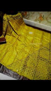 Tussar Silk Cutwork Sarees