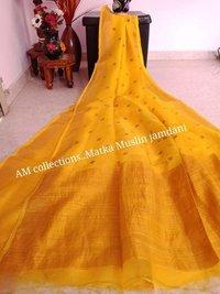 Matka Silk Jamdani Sarees