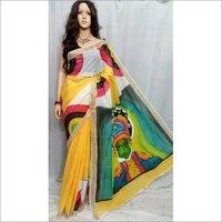 Kerela Cotton Hand Batik Printed Sarees