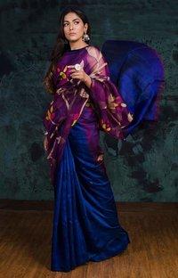 Matka Silk All Over Floral Jamdani Sarees.