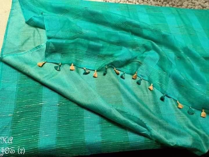 Jute Organza Silk Sarees