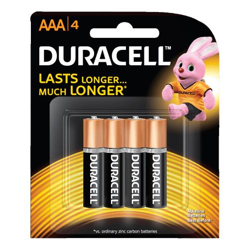 Duracell AAA 4 Coppertop Alkaline Batteries 1.5V 4 Pack