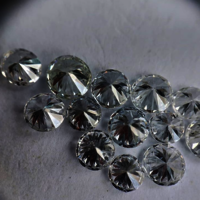 Cvd Diamond 2.40mm to 2.50mm GHI VS SI Round Brilliant Cut Lab Grown HPHT Loose Stones TCW 1