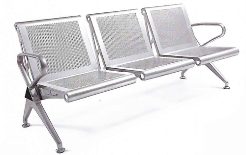 Three Seater MS Perforated Seating Chair