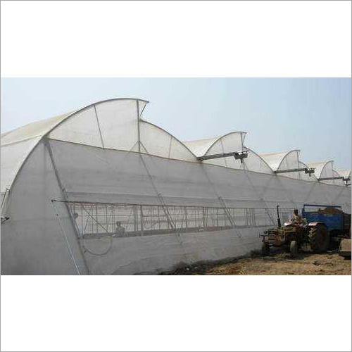 White Naturally Ventilated Greenhouse