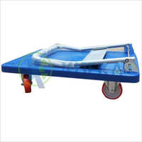 Plastic Platform Truck With Foldable Handel