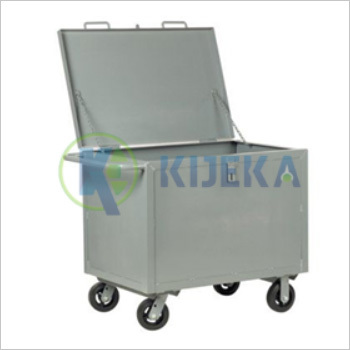 Steel Box Cart-With Hinged Lid