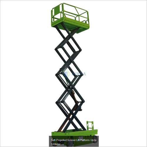 Self Propelled Scissor Lift Platform Upto 14 Meter
