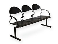 3 Seater MS Perforated Chair