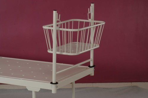 Crib with Two Pipe Attachment Bed