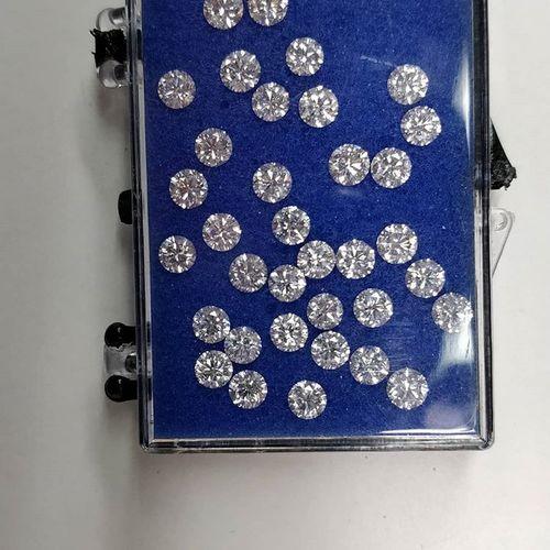 Cvd Diamond 2.30mm DEF VVS VS Round Brilliant Cut Lab Grown HPHT Loose Stones TCW 1