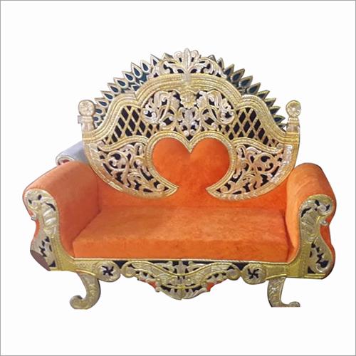 Orange Designer Wedding Sofa