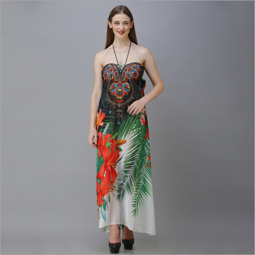 Ladies Printed Beachwear Dress
