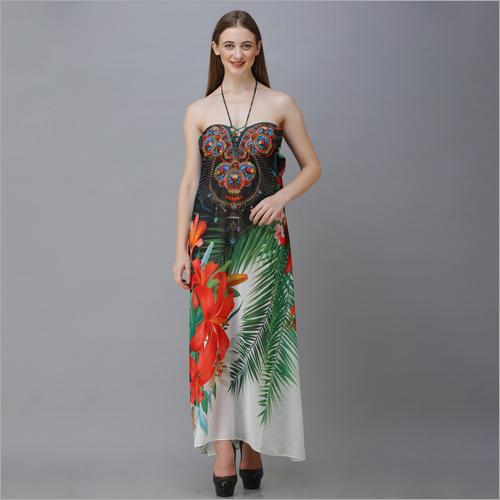 Ladies Printed Beachwear Dress