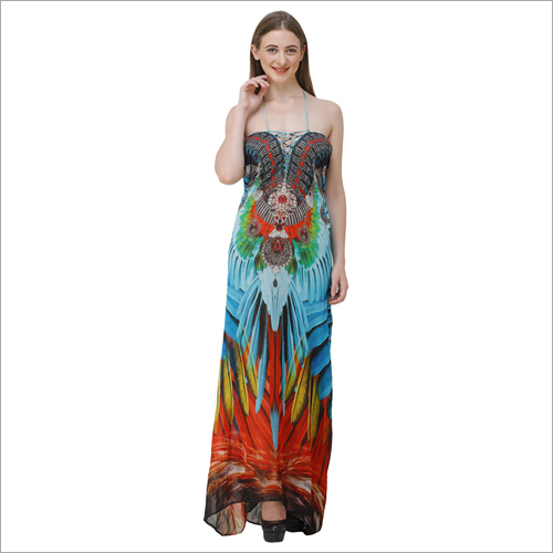 Ladies Digital Print Beachwear Dress