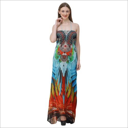 Ladies Digital Print Beachwear Dress