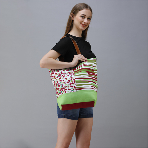 Cotton Canvas Designer Shoulder Bag