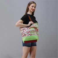 Cotton Canvas Designer Shoulder Bag
