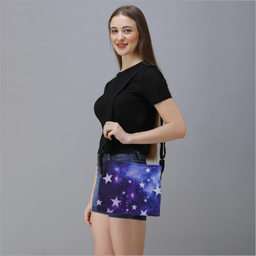 Digital Printed Cotton Canvas Sling Bag