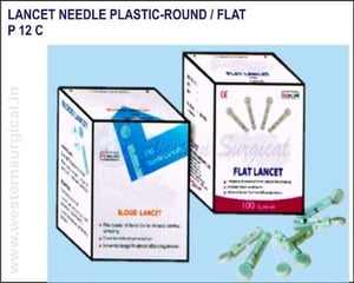 Lancet Needle Plastic-Round / Flat