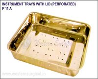 Instrument Trays with LID (Perforated)