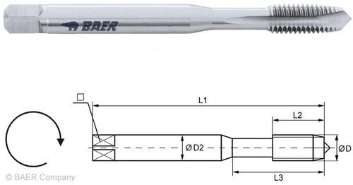 Baer Machine Tap Form B Din 371