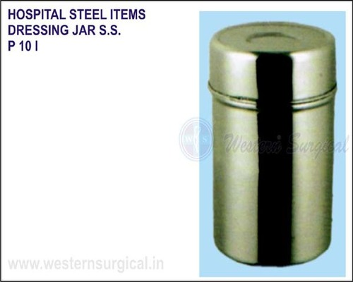Hospital Steel Items - Dressing Jar S.S.