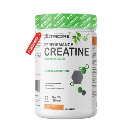 Micronized Creatine Powder (Tangy Orange Flavour) 250 Gm
