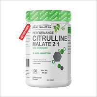 Citrulline Malate 2:1 100% Micronized (Unflavoured Powder) 200 Gm
