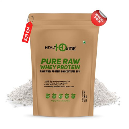 HEALTHOXIDE Natural-Organic Raw Whey Protein, 500 g
