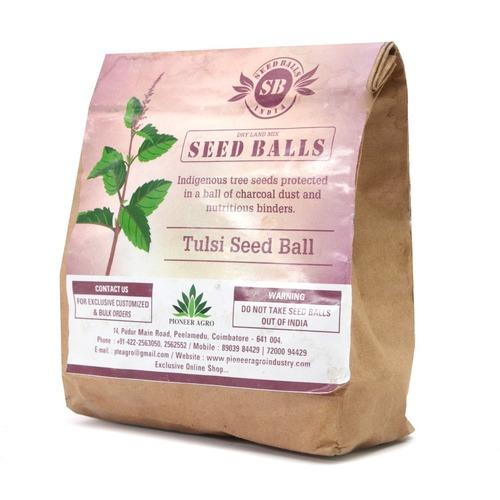 Seed Balls Just Throw & Grow (Thulasi Seed Balls) Tree Seed Balls Pack 100 Balls