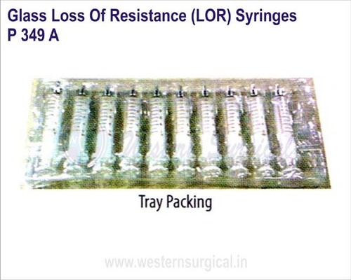Glass Loss of resistance (LOR) Syringes