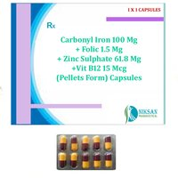 Carbonyl Iron Folic Acid Zinc Sulphate Vitamin B12 Tablets