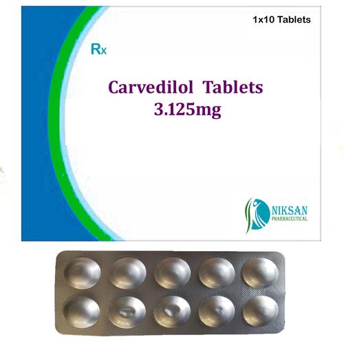 Carvedilol 3.125 Mg Tablets