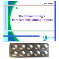 Diclofenac 50Mg Paracetamol 500Mg Tablets